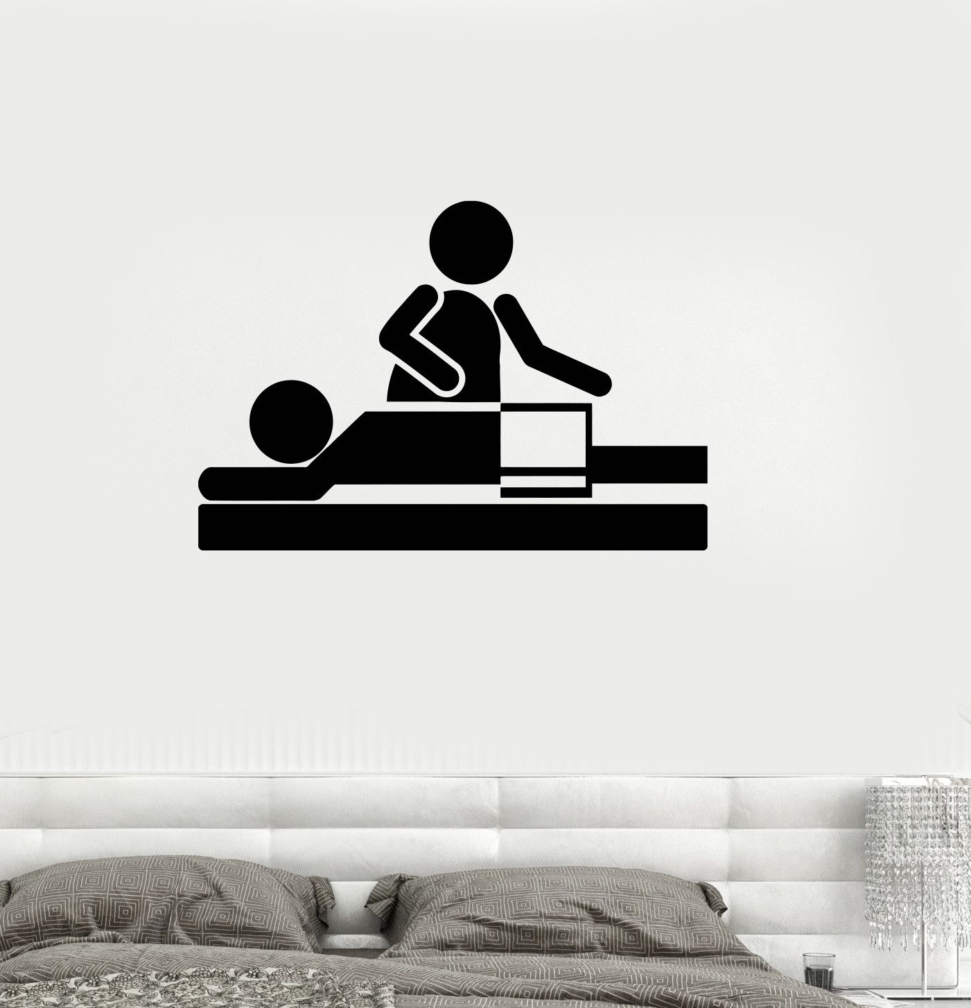 Vinyl Wall Decal Relax Spa Massage Therapy Beauty Salon Stickers (ig3247)