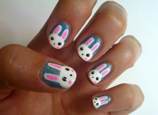 Rabbit Face Nail Art Bunny Nails Cute Nails Cute Nail Art Designs