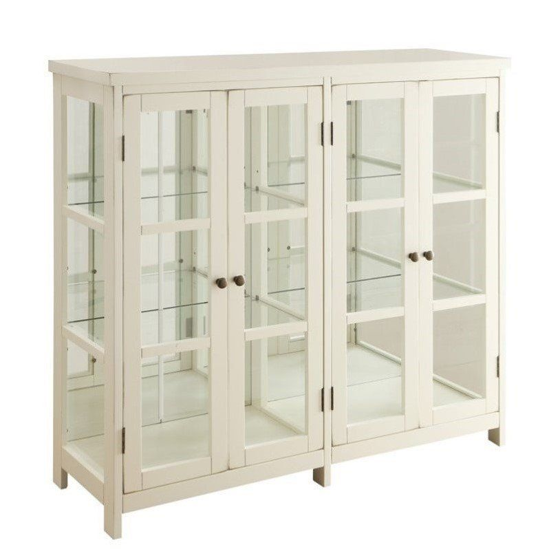 Best Coaster Traditional 4 Door Accent Cabinet In White 400 x 300