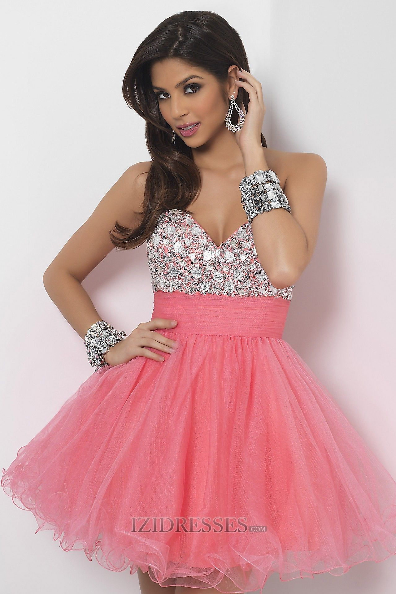 Ball Gown Strapless Sweetheart Organza Prom Dress | Kaylen ...