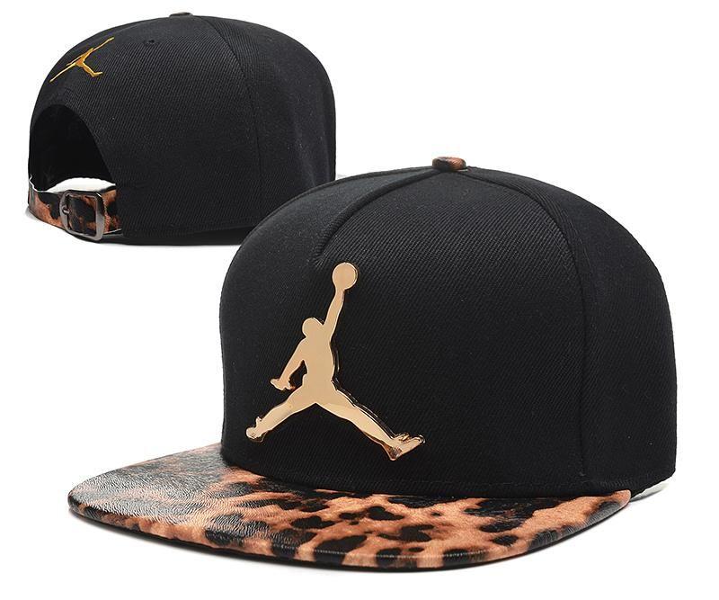 01cb5bf415ba Mens Air Jordan The Jumpman Iron Gold Metal Logo Leopard Visor 2016 Big  Friday Deals Snapback Cap - Black   Gold Cheetah