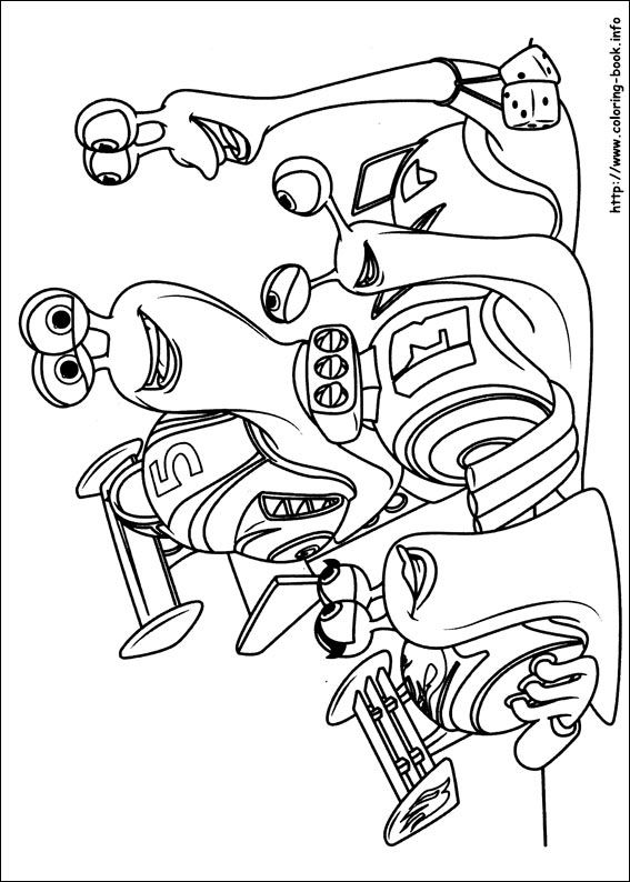 turbo character coloring pages-#10