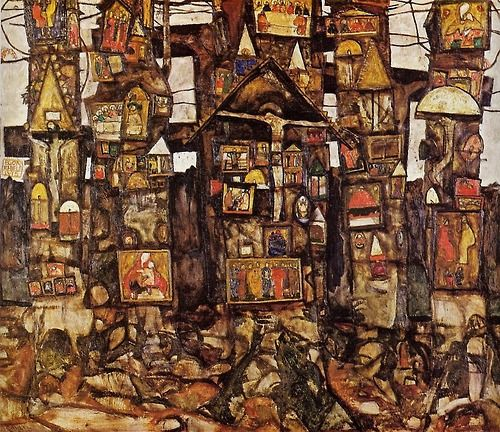 """Woodland Prayer"", 1915, Egon Schiele."