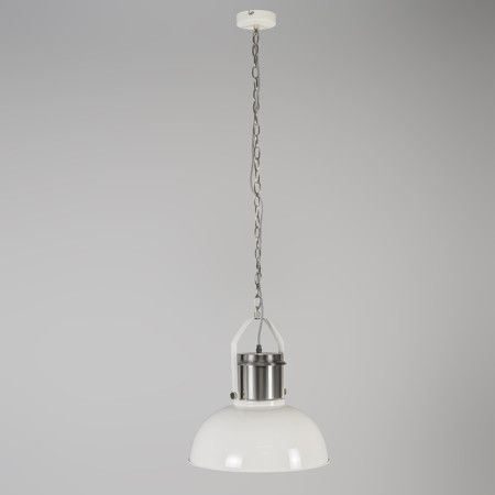 Pendant lamp industrial 37 white lampandlight co uk