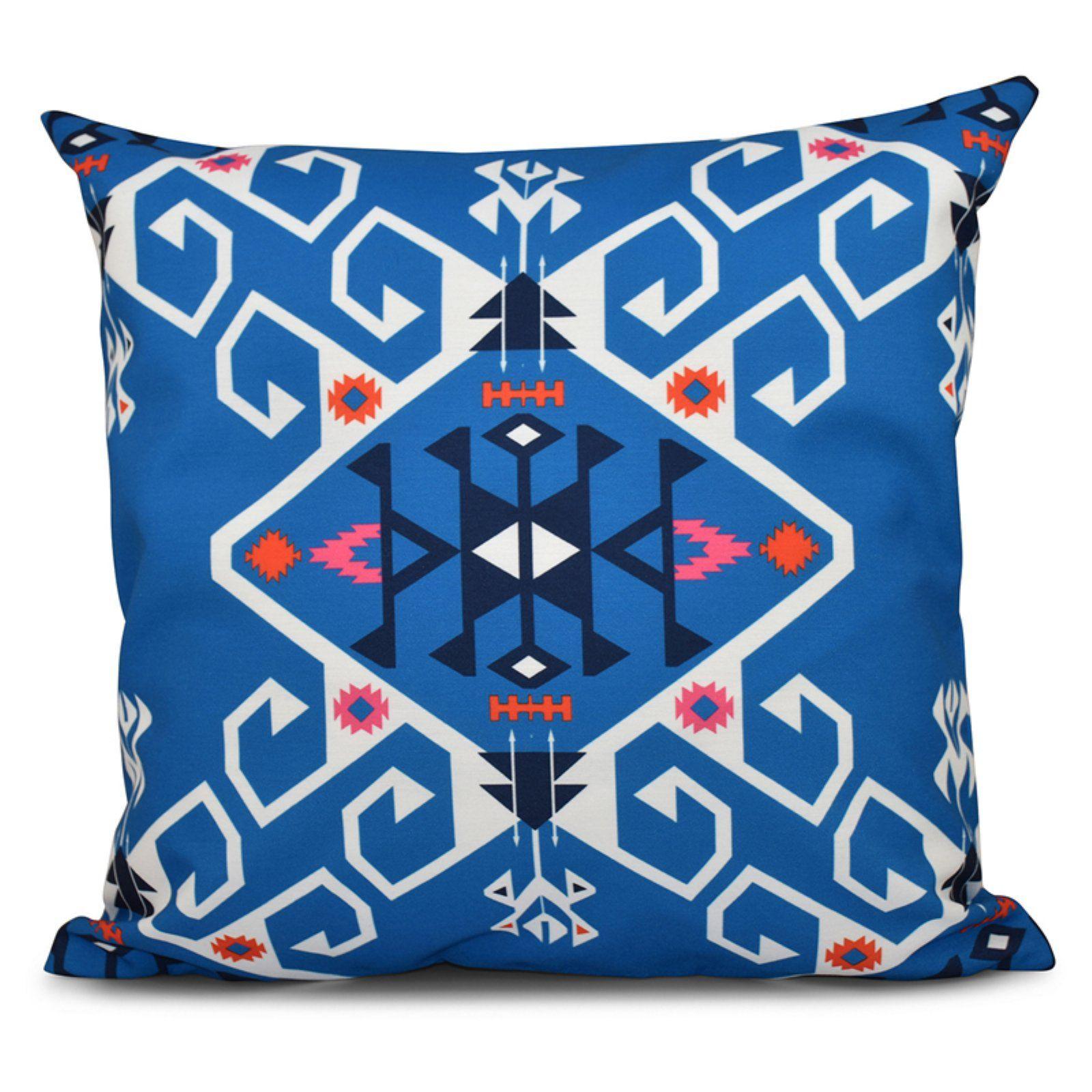 E By Design Happy Hippy Jodhpur Medallion Decorative Pillow Green In