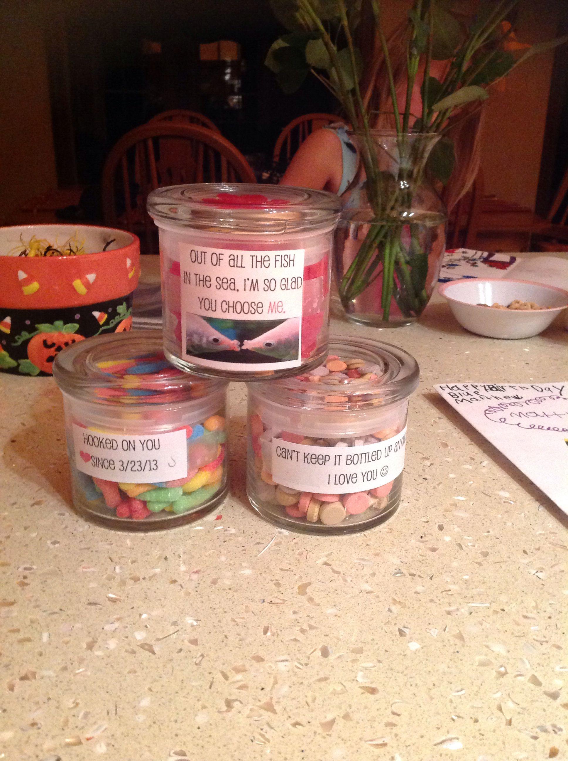 My Candy Jars For My Sweet Boyfriend Jar Gifts Sweet Boyfriend Boyfriend Gifts