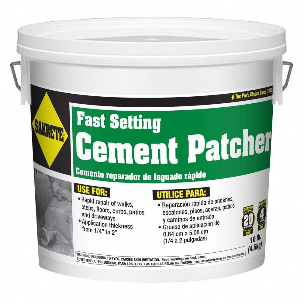 Sakrete 10 Lb Fast Setting Cement Patcher 60205004 With Images