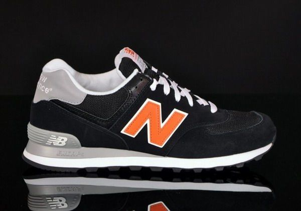 Fast Delivery New Balance 574 ml574kor Black / White   New Balance   Mens   2013