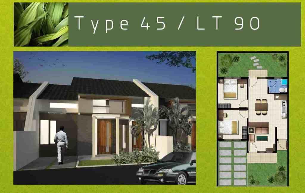 Desain Rumah Minimalis Modern Type 45 1 Lantai