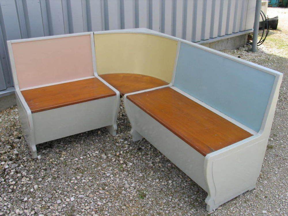 Eckbank Küchenbank 50er Jahre Design Pastellfarben Bank Küche |  Antiquitäten U0026 Kunst, Design U0026 Stil