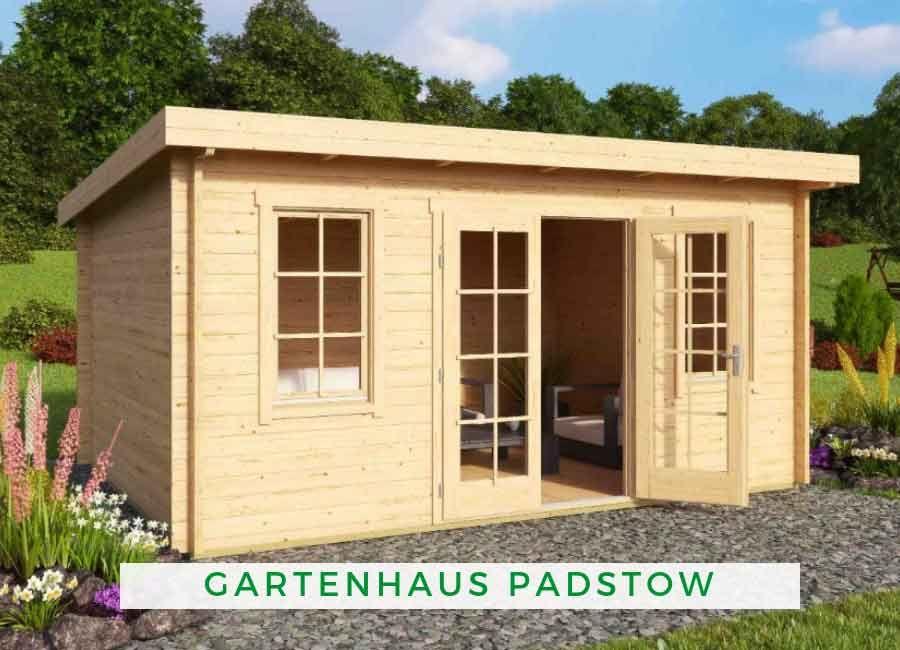 Gartenhaus Pultdach modern Das hochwertige Lasita Maja