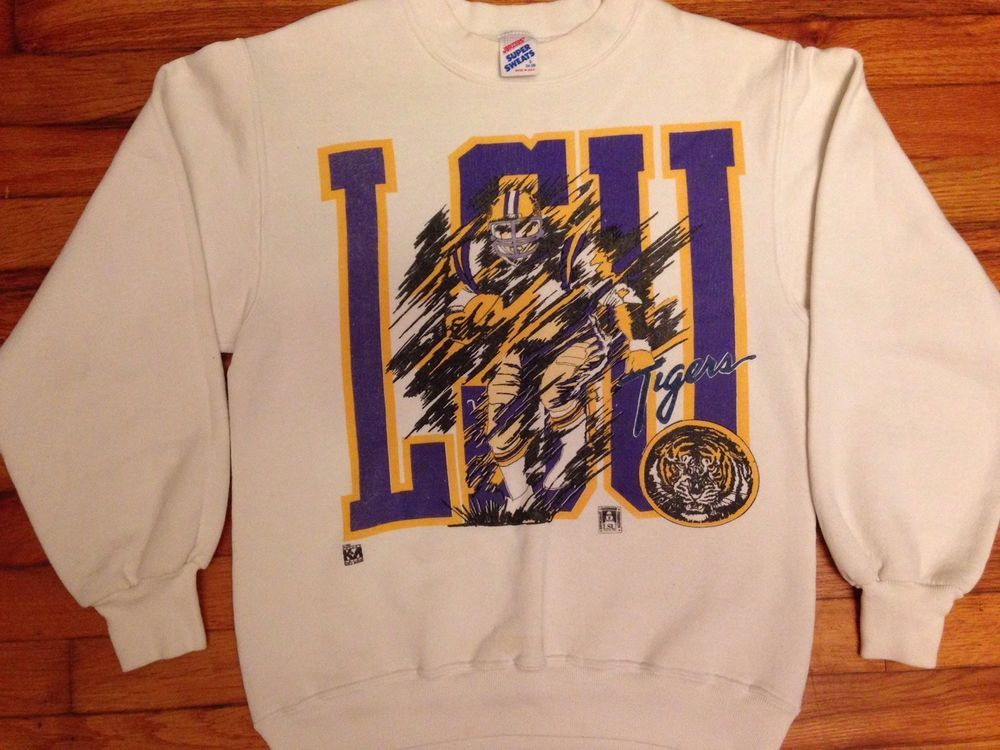 d36ae19f Vintage LSU Shirt 80s Sweat Shirt Sweater NCAA Football SEC BCS Winter