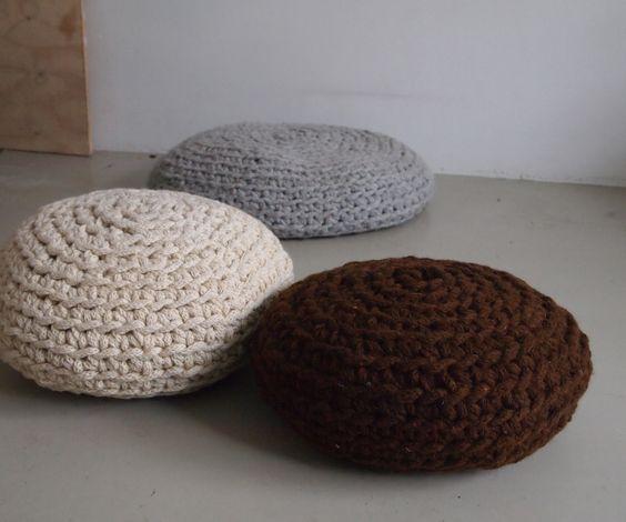 Make a Mega-crochet Pouf   Crochet pouf, Free pattern and Cable