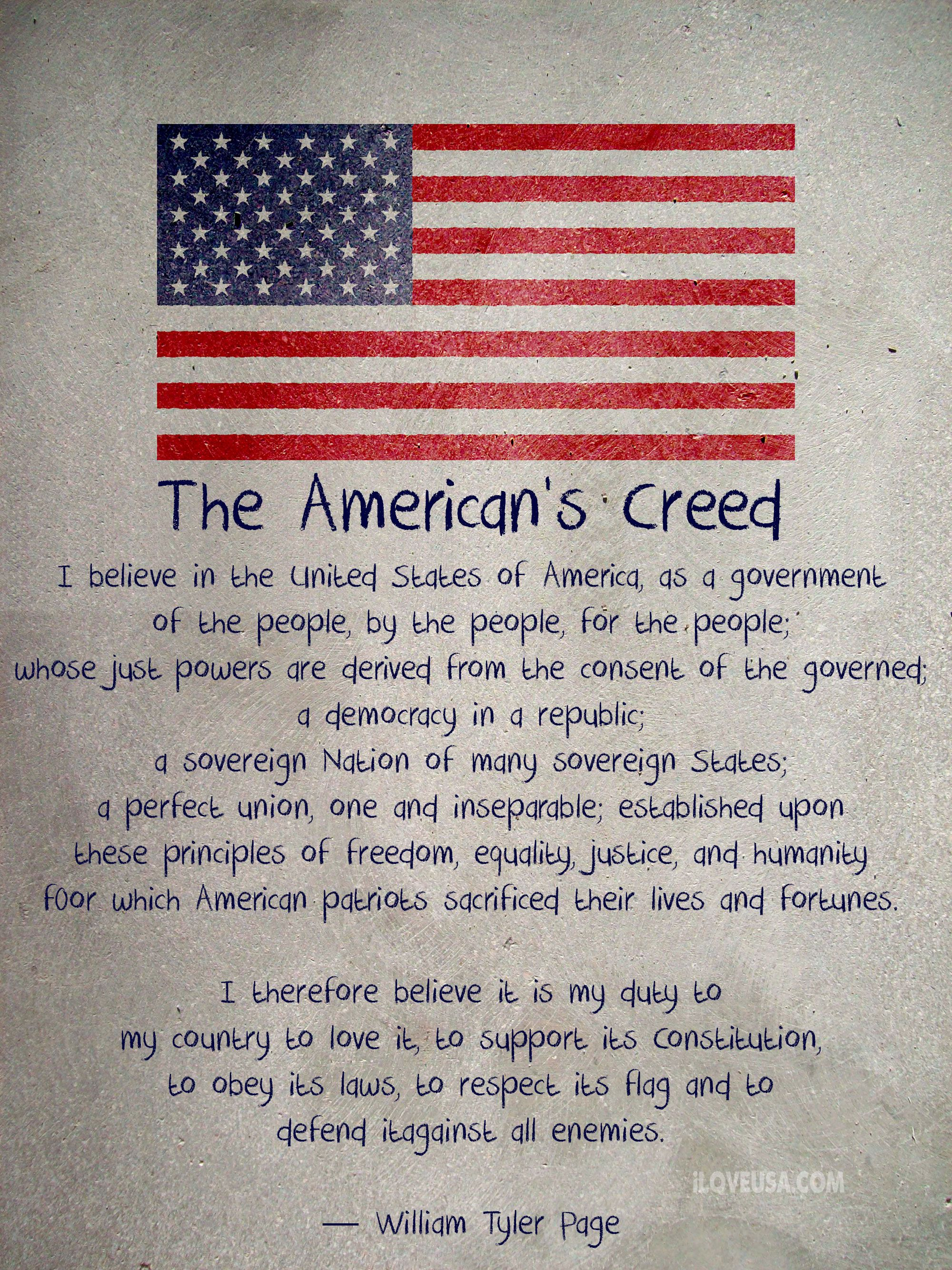 The American S Creed Patriotic Quotes America Quotes Political