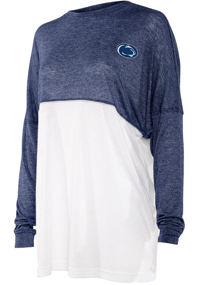 Penn State Nittany Lions Womens Navy Blue Colorblock Varsity