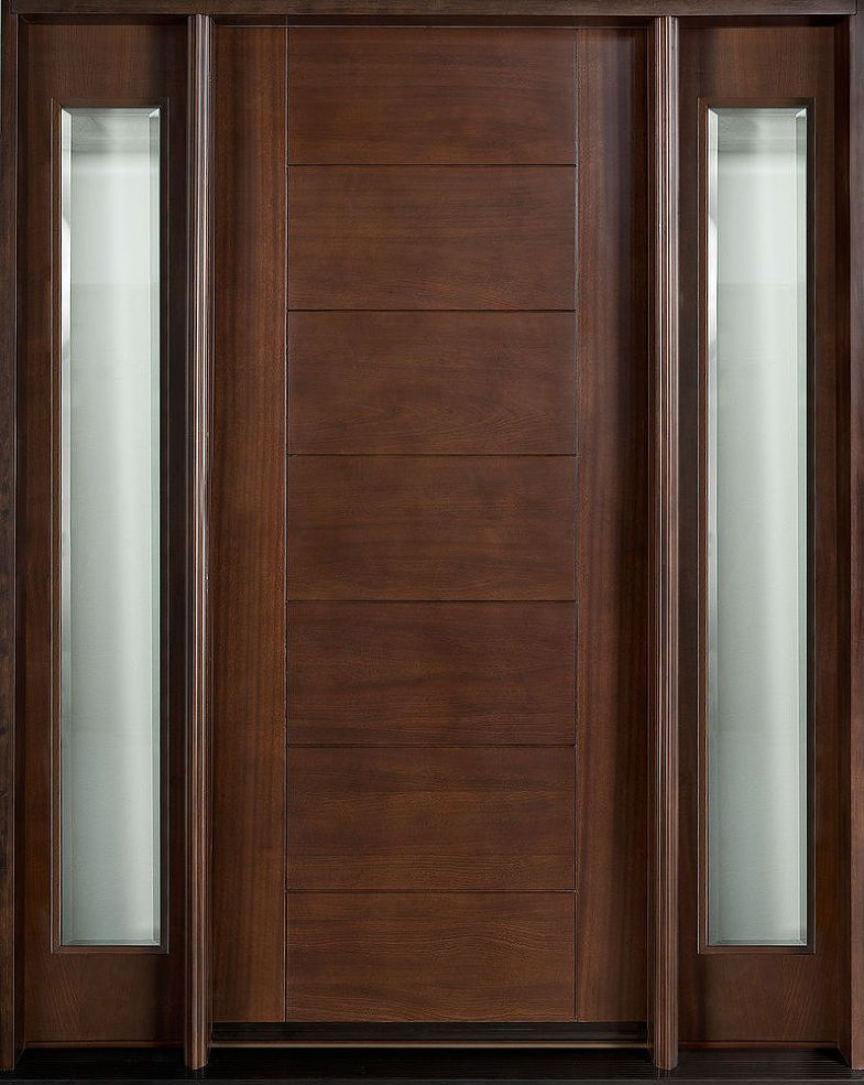 Custom Wood And Glass Grooved Doors Contemporary Exterior Doors
