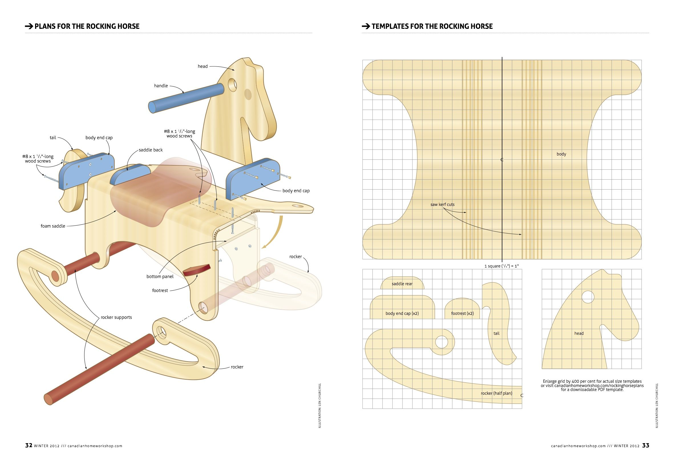 delightful rocking horse blueprints #4: Woodworking Project Paper Plan to Build Merrilegs Free plans for building rocking  horses Free woodworking plans