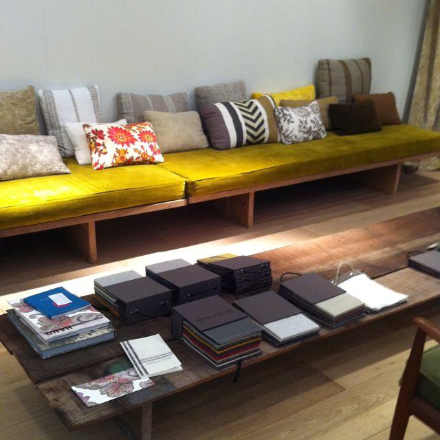 Banquette scandinave et table basse bois meubles scandinaves