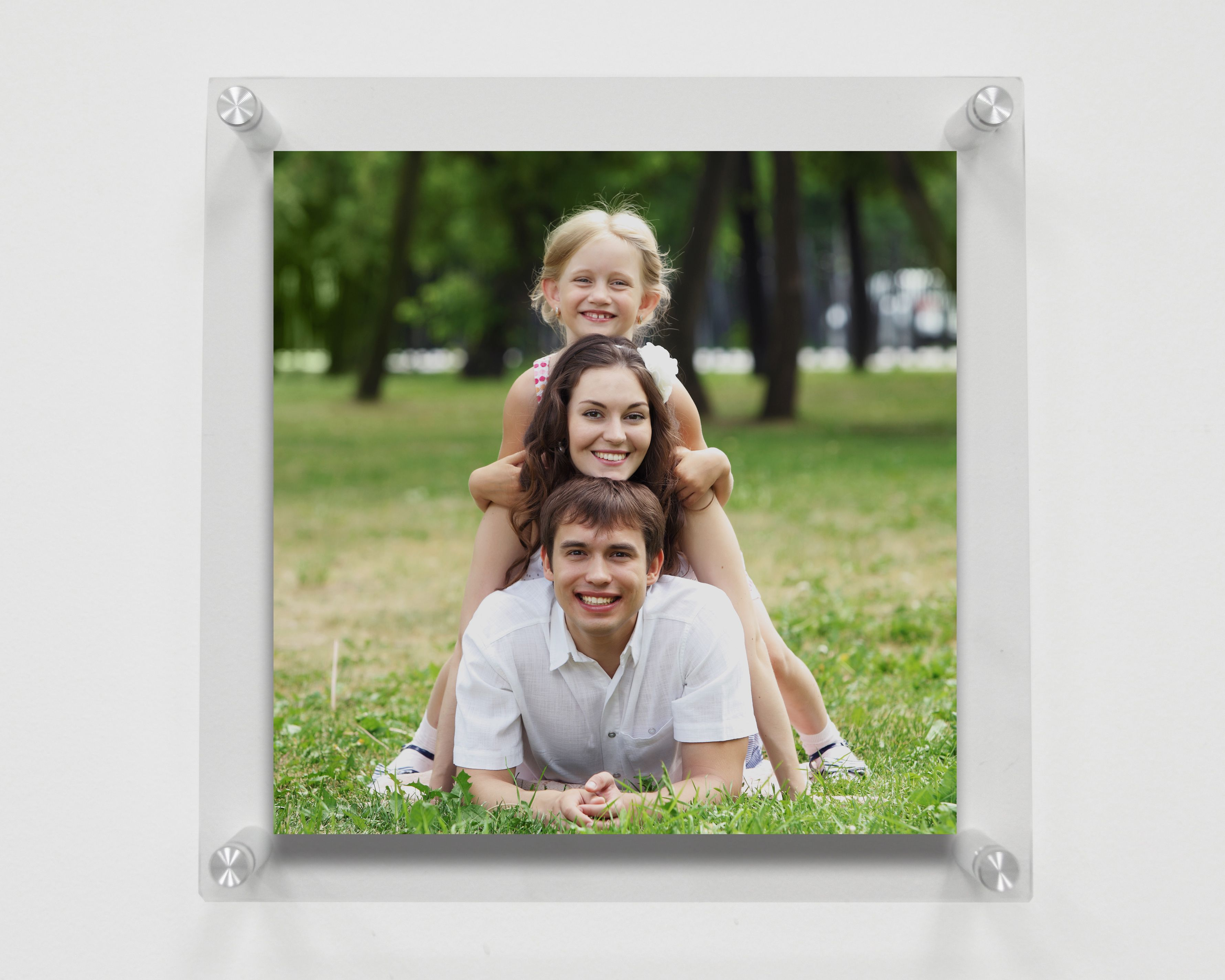 Floating Acrylic Frame Ideal For Any Square Photos Or Prints Including Sizes 8x8 10x10 Or 12x12 Floating Acrylic Frame Frames On Wall Acrylic Frames