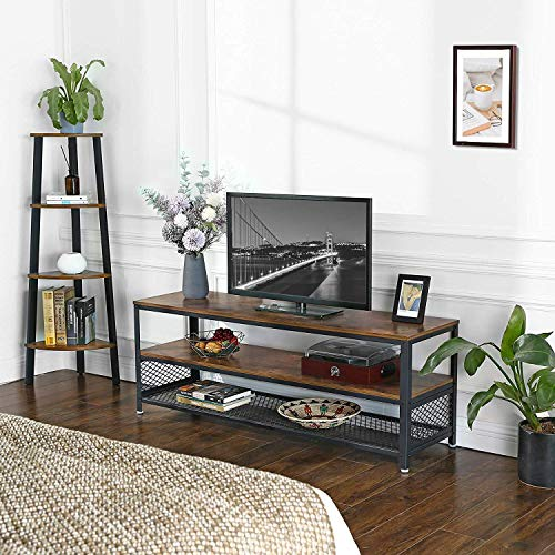 Vasagle Bryce Tv Stand Lengthened Tv Cabinet Console Coffee Table With Metal Frame Deals Furniturev Com In 2021 Furniture Design Living Room Living Room Tv Stand Living Room Makeover