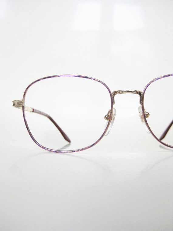 7e58d6cc158 Vintage Pink Eyeglasses Wire Rim Pastel Rose Gold Geek Chic Womens  Deadstock Glasses Optical Frames NOS New Old Stock Golden Metallic Indie