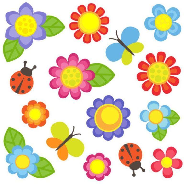 Astronomiczna Wiosna Ozdoby Wiosenne Kwiaty 2 Marzec Ozdoby Swieta I Pory Roku Wiosna Vector Flowers Clip Art Doodle Frames