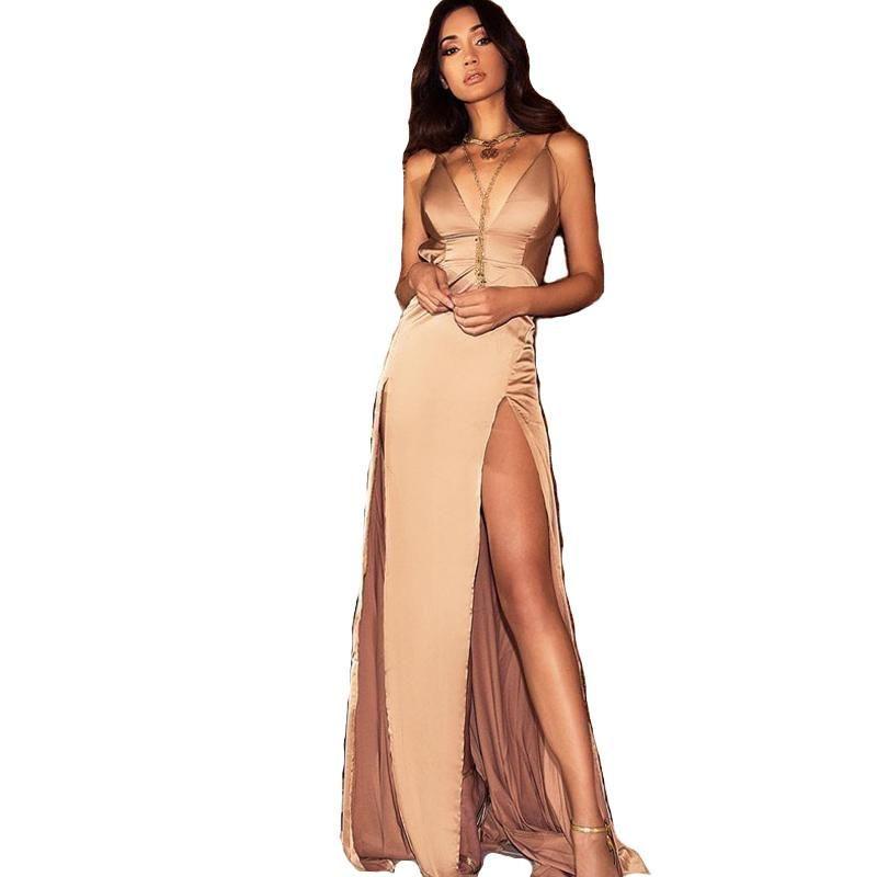 Double Side Split Maxi Dress Nude Dresses Dresses Dresses