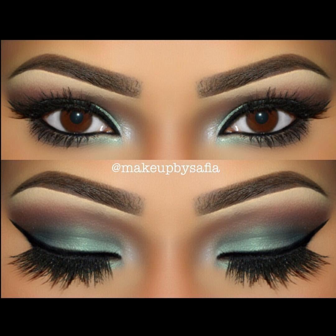 "Motives Cosmetics Official on Instagram: ""LOVE!! #Repost @makeupbysafia wearing #MotivesCosmetics Pressed Eye Shadows in this gorgeous aquamarine look!"