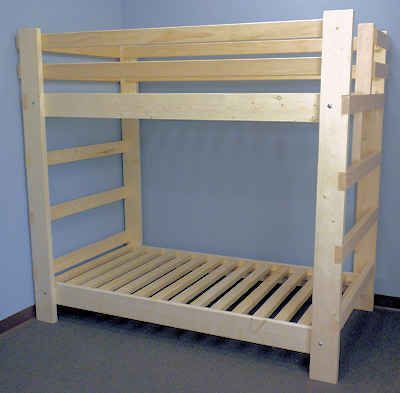 Bunk Beds for Kids - reasonable prices, custom sizes for ceiling height, etc.. and even triple bunk bed options.