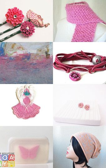 Pink passion by Atelier Chloe on Etsy--Pinned with TreasuryPin.com