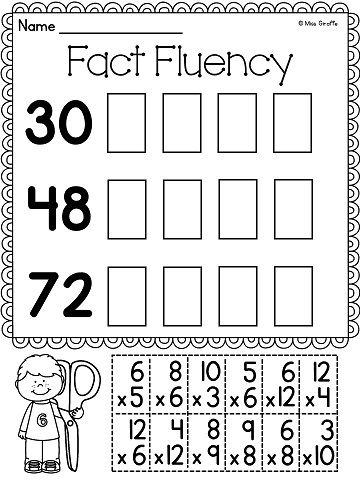 Multiplication Facts Practice: Fun multiplication games to build ...