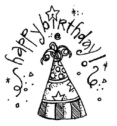31+ Birthday party hat clipart black and white ideas