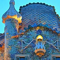 Photo taken at Casa Batlló by Rashed A. on 5/19/2013