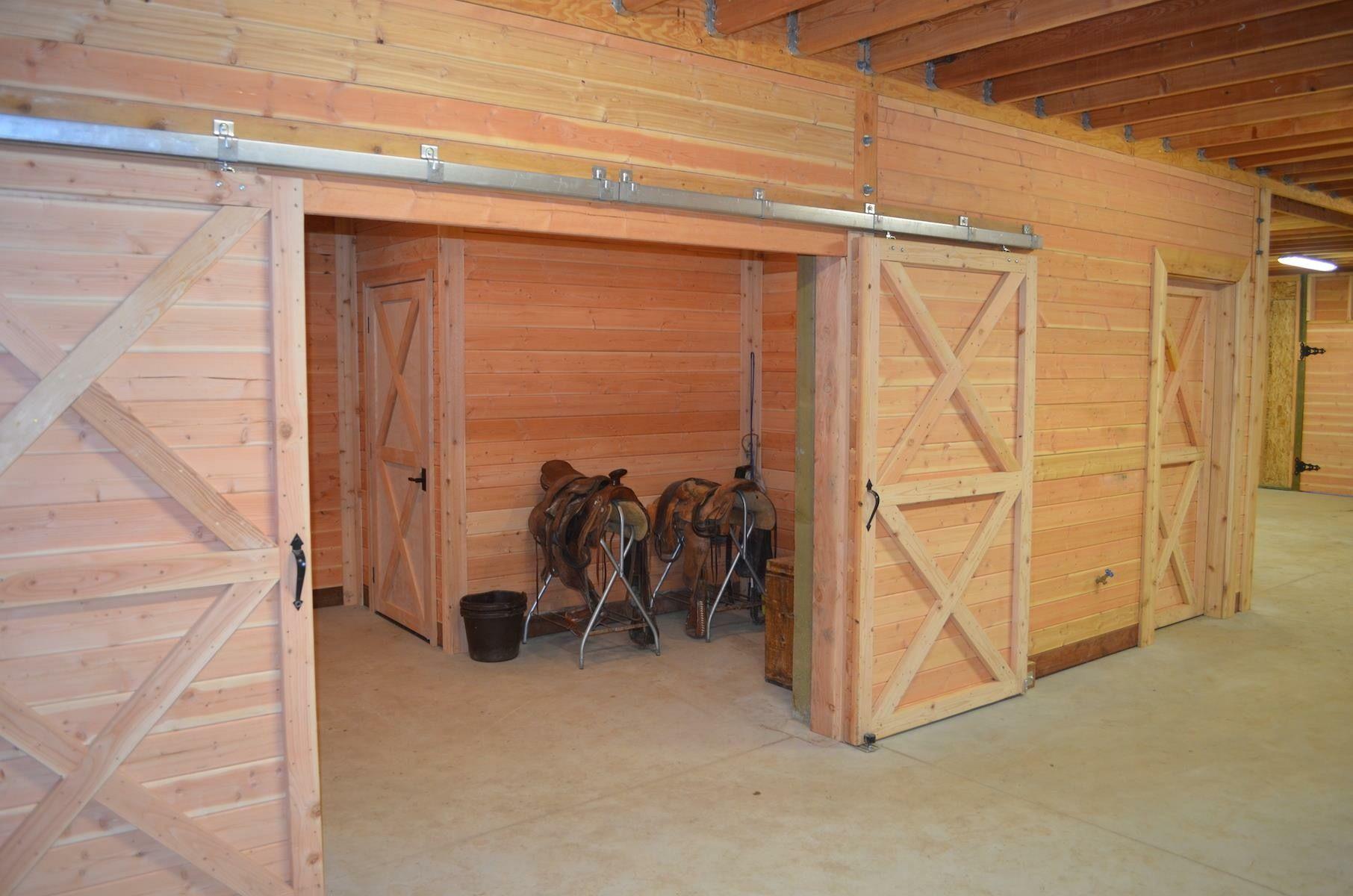 Double Sliding Doors Into Tack Room Feed Room Club House Barn House Kits Barn Kitchen Horse Barn Plans