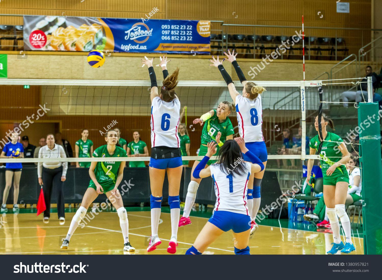 Odessa Ukraine Apr 21 2019 Volleyball Cup Of Ukraine Green Champions Of Ukraine 2019 Vk Khimik Yuzhny South V Volleyball Players Volleyball Champion