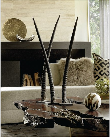 African Inspired Interior Design Ideas: Cultured Home --- Horns / WWW.THEAFRICANTOUCH.COM / Ethnic