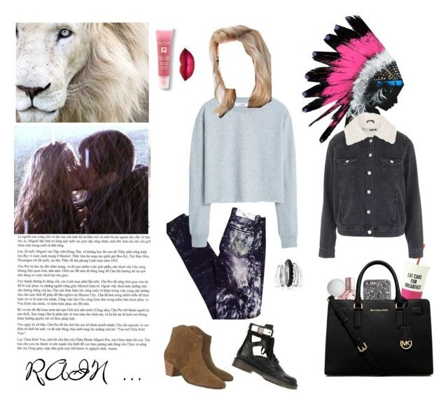 """""""RAIN ..."""" by bellcara ❤ liked on Polyvore featuring Blank Denim, MANGO, Isabel Marant, See by Chloé, Avenue, CO, Kate Spade, Lancôme, Topshop and MICHAEL Michael Kors"""