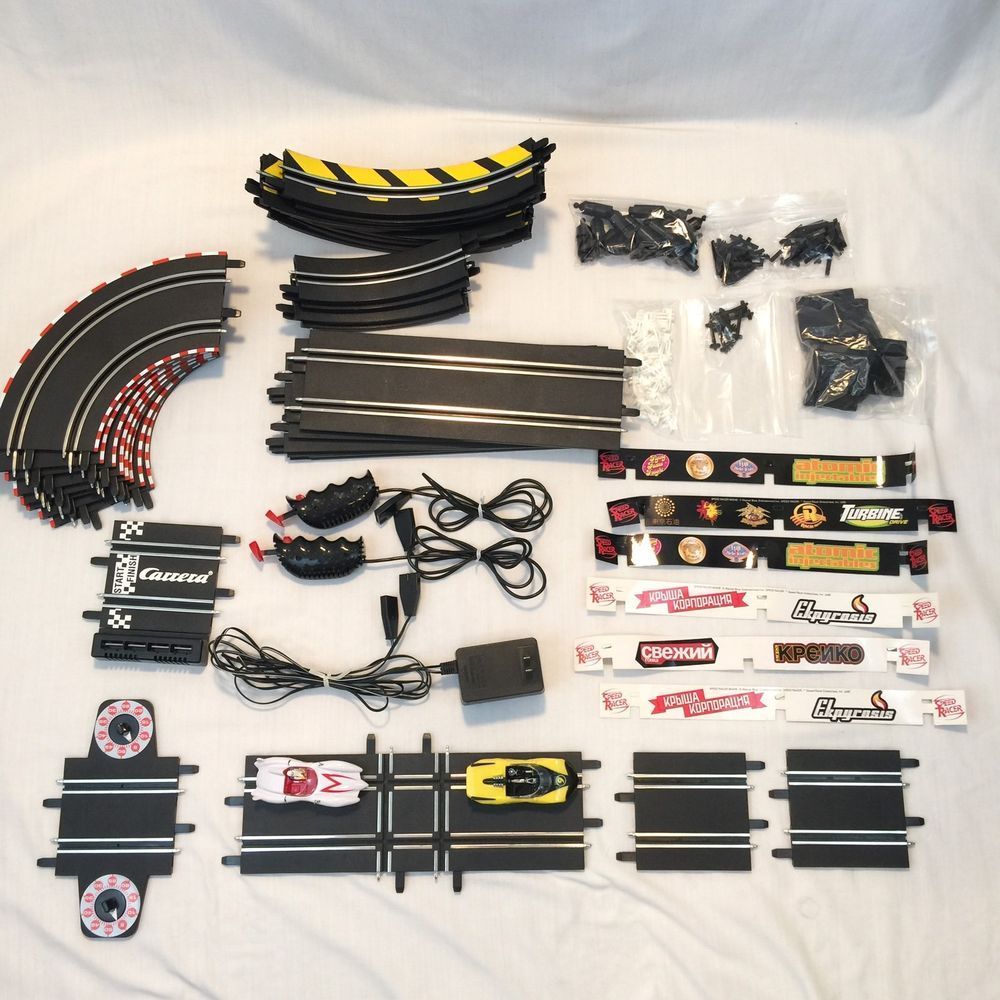 Carrera Go Speed Racer 1/43 Slot Car Set WITH TRACK