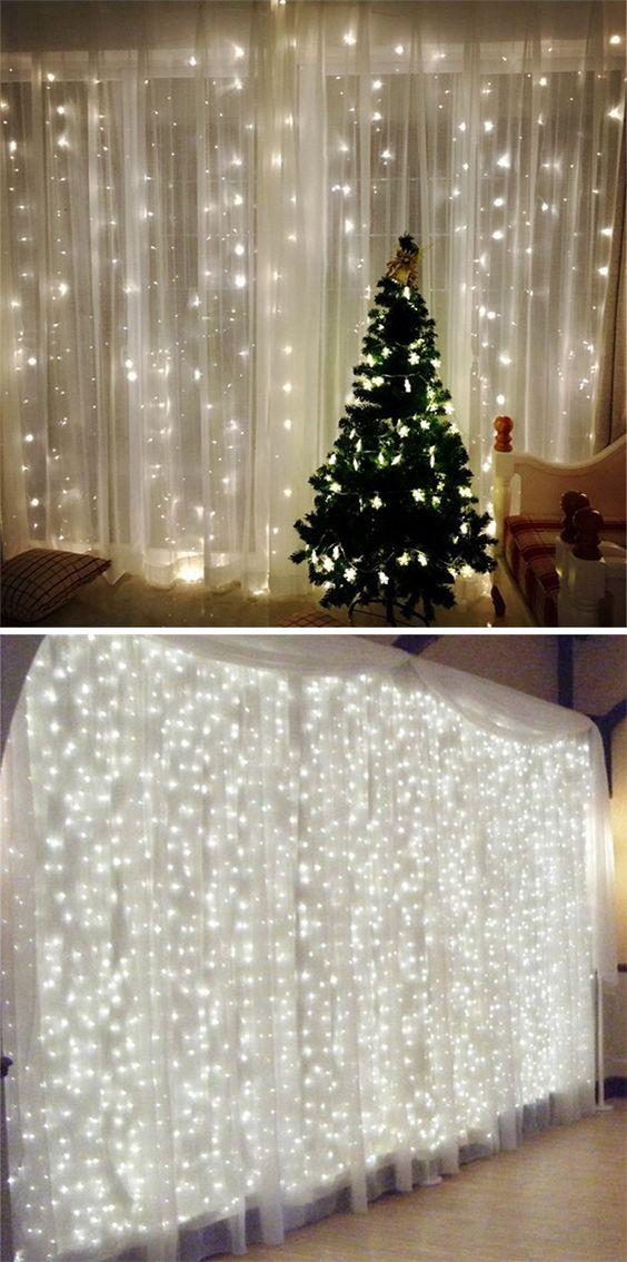 3M*3M 8-modes 304pcs-Lights Light String White Lights Decorative ...