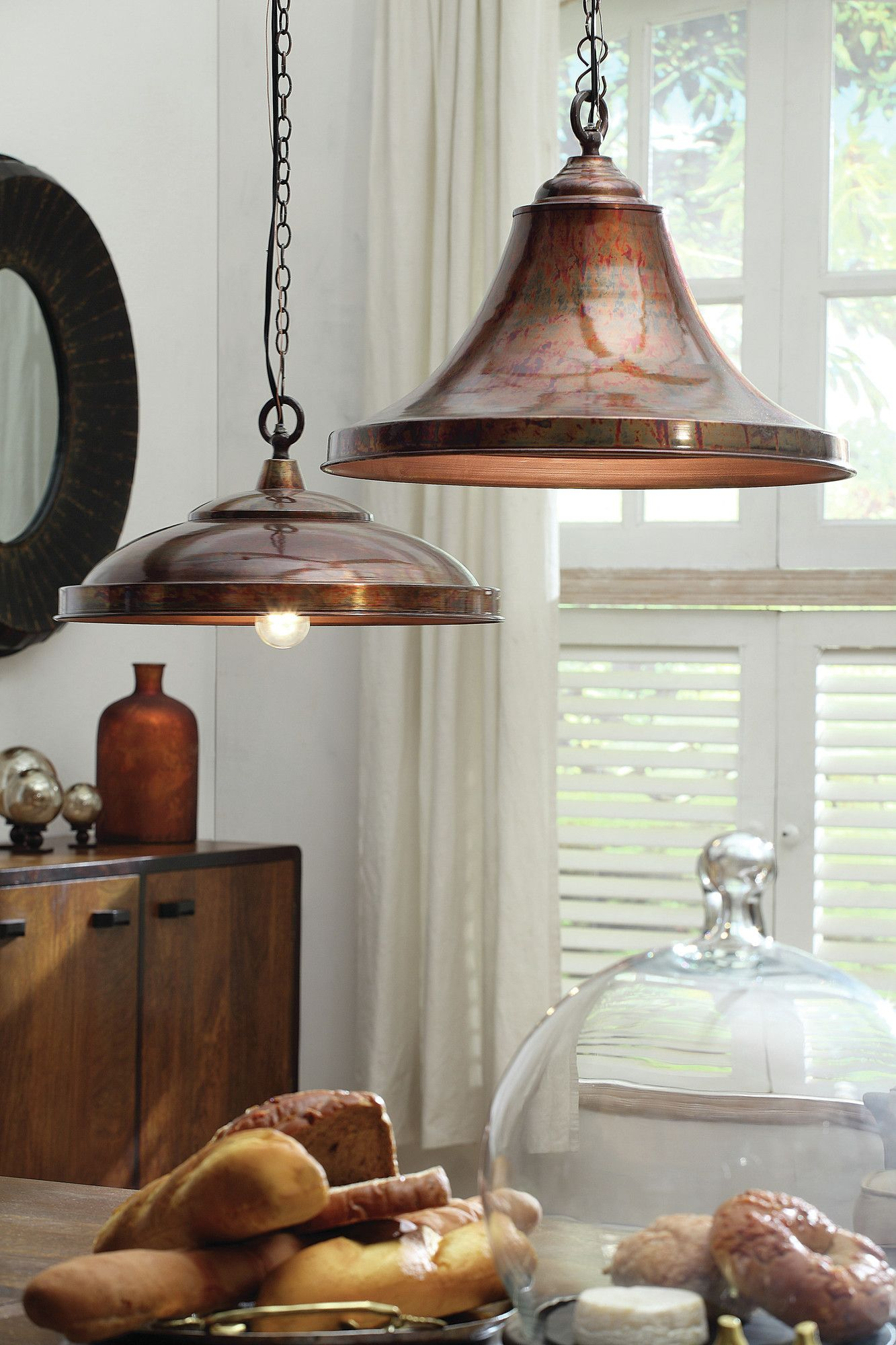 Metal Hanging Pendant Lamp in Copper – First of a Kind