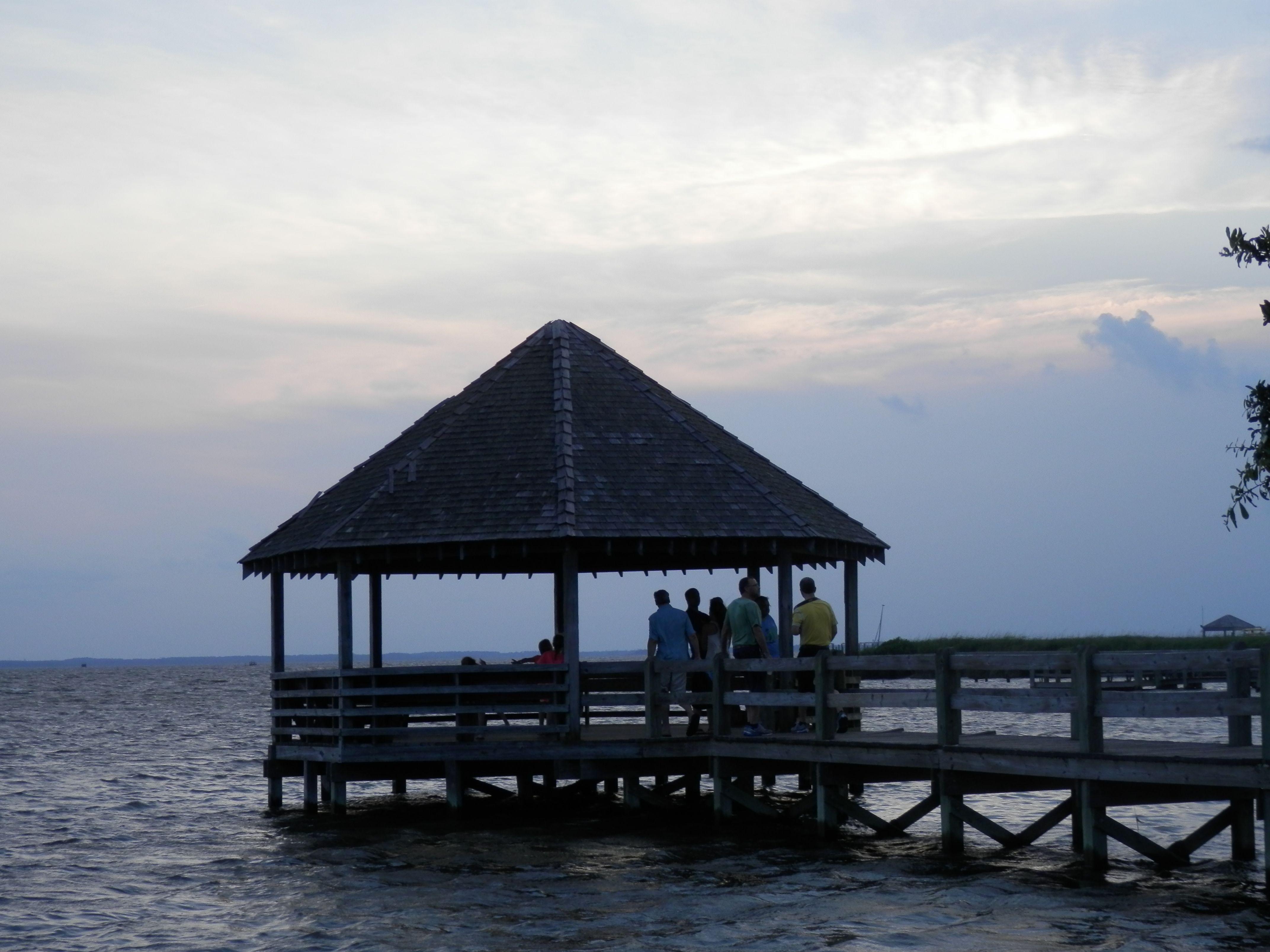 pier at the park...Corolla Light.                             gazebo on the pier at the park at Corolla Light, OBX