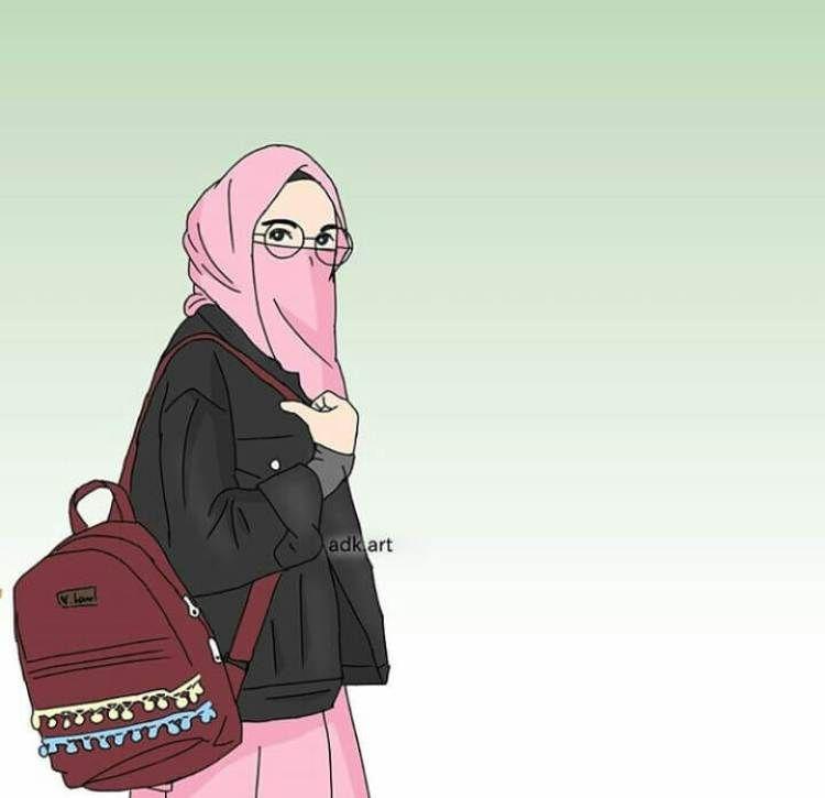 Gambar Orang Bercadar Cantik Kartun