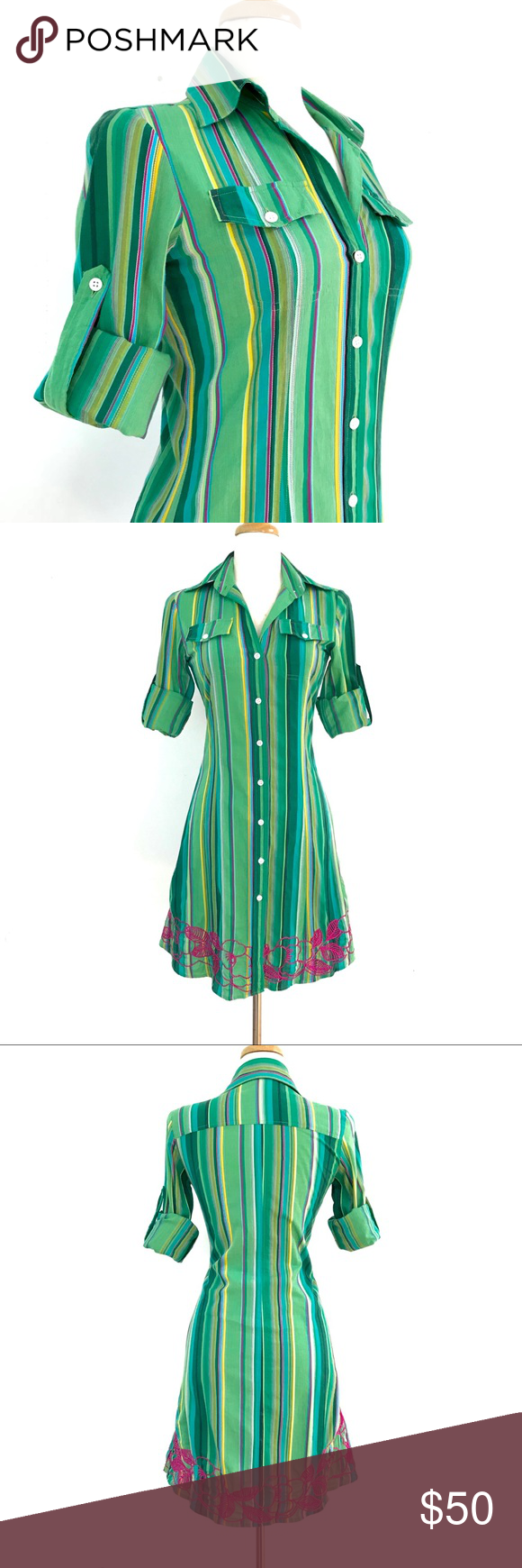 Vintage cake couture long sleeve shirt dress in my posh picks