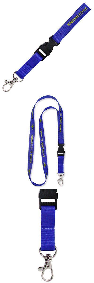 Lanyards 150143: Pinmarts Education Knowledge Is Power Lanyard BUY IT NOW ONLY: $142.48