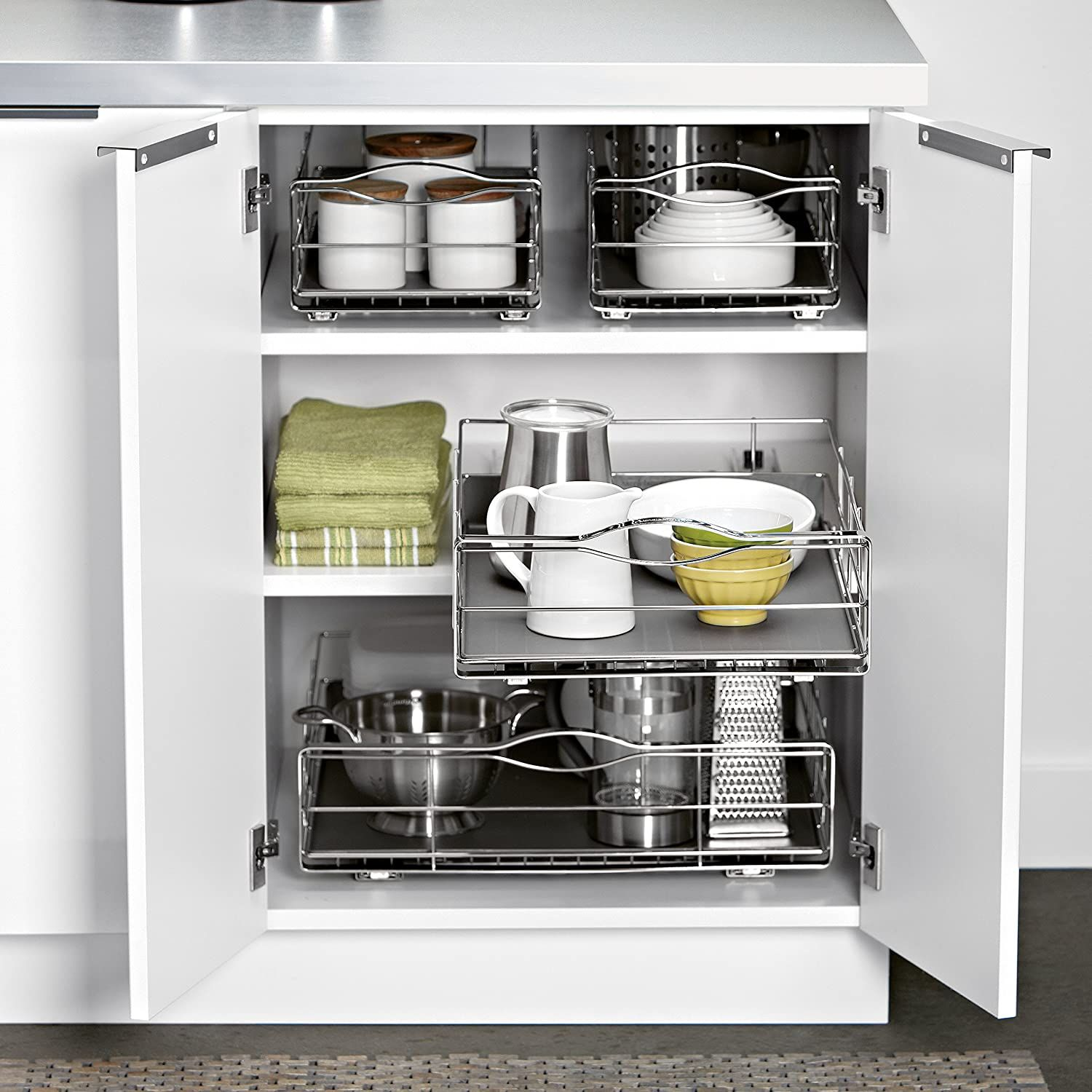 Amazon.com: simplehuman 20 inch Pull-Out Cabinet Organizer ...
