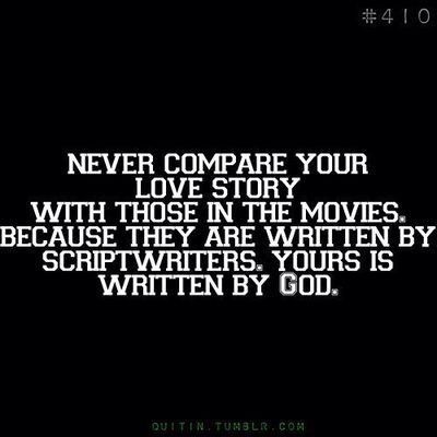 Never compare your love story........