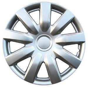 2004-2006 Toyota Camry 15 Inch Silver Metallic Clip-On Hubcap Covers