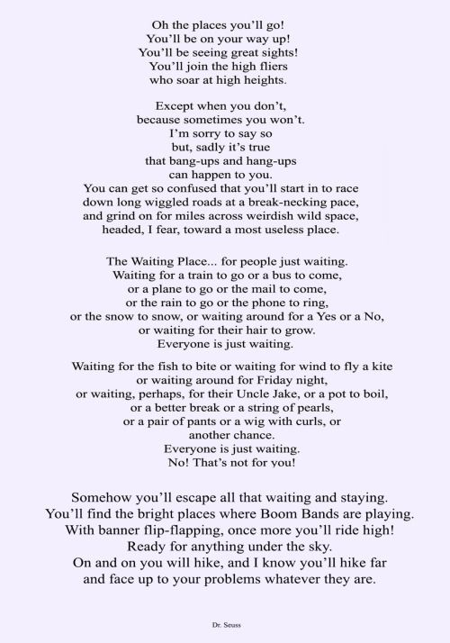 alecshao u201c Dr Seuss - Oh, the Places Youu0027ll Go! To all my - graduation speech example
