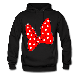 Minnie Mouse Bow Hoodie ~ 185