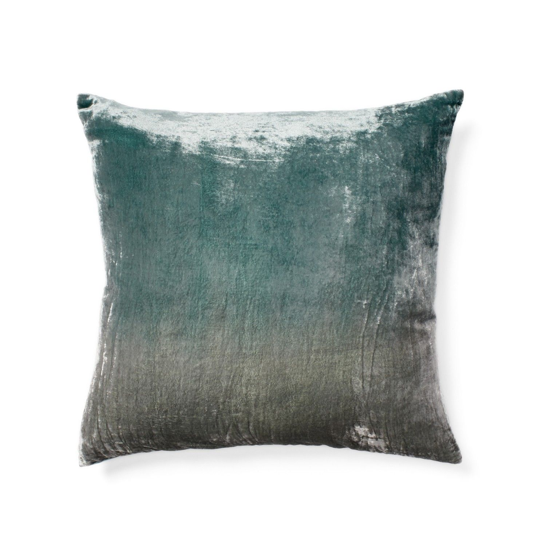Blue Ombre Velvet Pillow Pillows